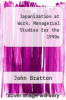 cover of Japanization at Work; Managerial Studies for the 1990s