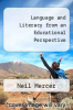 cover of Language and Literacy from an Educational Perspective