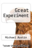 cover of Great Experiment