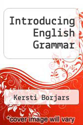 Cover of Introducing English Grammar  (ISBN 978-0340691724)