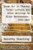 cover of Speak Out in Thunder Tones: Letters and Other Writings by Black Northerners, 1787-1865
