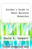 cover of Insider`s Guide to Small Business Resources