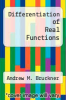 cover of Differentiation of Real Functions