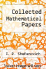 cover of Collected Mathematical Papers
