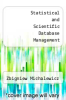 cover of Statistical and Scientific Database Management