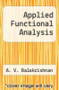 cover of Applied Functional Analysis