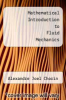 cover of Mathematical Introduction to Fluid Mechanics