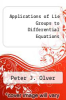 cover of Applications of Lie Groups to Differential Equations (2nd edition)