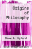 cover of Origins of Philosophy