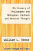 cover of Dictionary of Philosophy and Religion: Eastern and Western Thought (2nd edition)