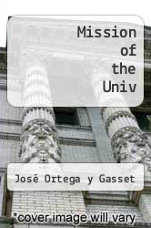 Cover of Mission of the Univ EDITIONDESC (ISBN 978-0393001273)
