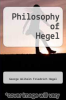 cover of Philosophy of Hegel