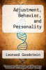 cover of Adjustment, Behavior, and Personality (2nd edition)