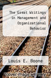 Cover of The Great Writings in Management and Organizational Behavior 2 (ISBN 978-0394360997)