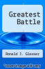 cover of Greatest Battle
