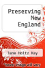 cover of Preserving New England