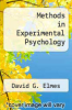 cover of Methods in Experimental Psychology