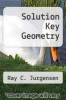 cover of Solution Key Geometry