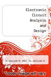 Cover of Electronic Circuit Analysis and Design 2 (ISBN 978-0395326176)