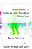 cover of Assessment in Special and Remedial Education (3rd edition)