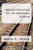 cover of Applied Statistics for the Behavioral Sciences (2nd edition)