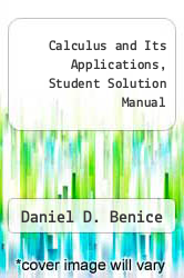 Cover of Calculus and Its Applications, Student Solution Manual 93 (ISBN 978-0395615522)