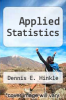 cover of Applied Statistics (3rd edition)