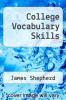cover of College Vocabulary Skills (5th edition)