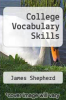 cover of College Vocabulary Skills