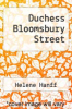 cover of Duchess Bloomsbury Street