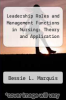 cover of Leadership Roles and Management Functions in Nursing: Theory and Application
