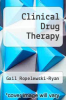 cover of Clinical Drug Therapy (4th edition)