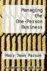 cover of Managing the One-Person Business