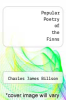 cover of Popular Poetry of the Finns