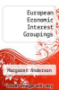 cover of European Economic Interest Groupings