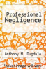 cover of Professional Negligence (2nd edition)