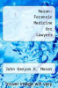 cover of Mason: Forensic Medicine for Lawyers (2nd edition)
