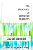 cover of ISO STANDARDS FOR COMPUTER GRAPHICS