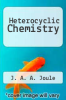 cover of Heterocyclic Chemistry (3rd edition)