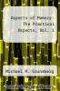 cover of Aspects of Memory: The Practical Aspects, Vol. 1 (2nd edition)