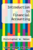 cover of Introduction to Financial Accounting (3rd edition)