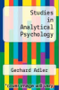 cover of Studies in Analytical Psychology