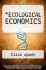 cover of ECOLOGICAL ECONOMICS