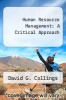 cover of Human Resource Management: A Critical Approach