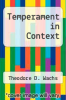cover of Temperament in Context