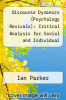 cover of Discourse Dynamics (Psychology Revivals): Critical Analysis for Social and Individual Psychology