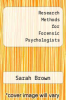 cover of Research Methods for Forensic Psychologists