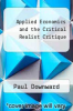 cover of Applied Economics and the Critical Realist Critique