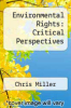 cover of Environmental Rights: Critical Perspectives