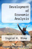 cover of Development of Economic Analysis (1st edition)